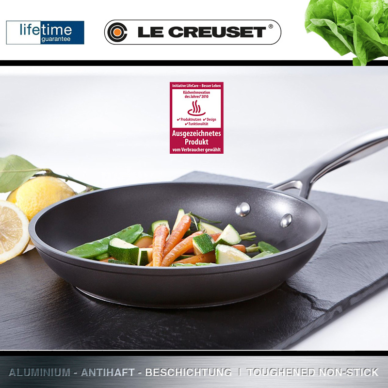 le creuset pfanne flach 20 cm culinaris k chenaccessoires. Black Bedroom Furniture Sets. Home Design Ideas