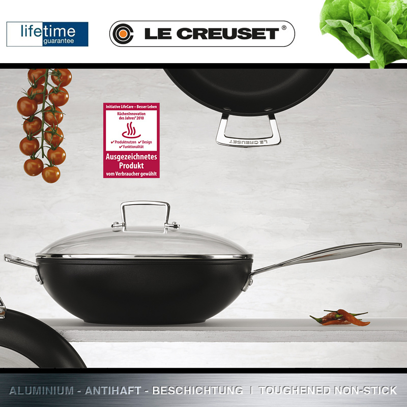 le creuset wok pfanne 30 cm culinaris k chenaccessoires. Black Bedroom Furniture Sets. Home Design Ideas