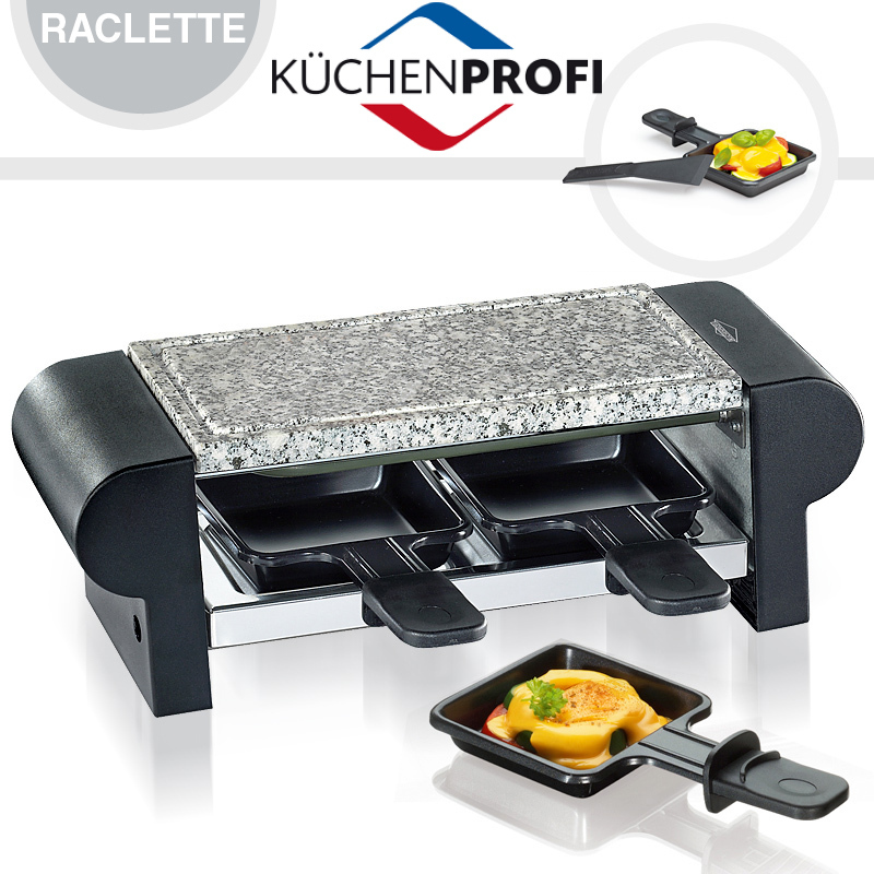 k chenprofi raclette hot stone duo cookfunky. Black Bedroom Furniture Sets. Home Design Ideas