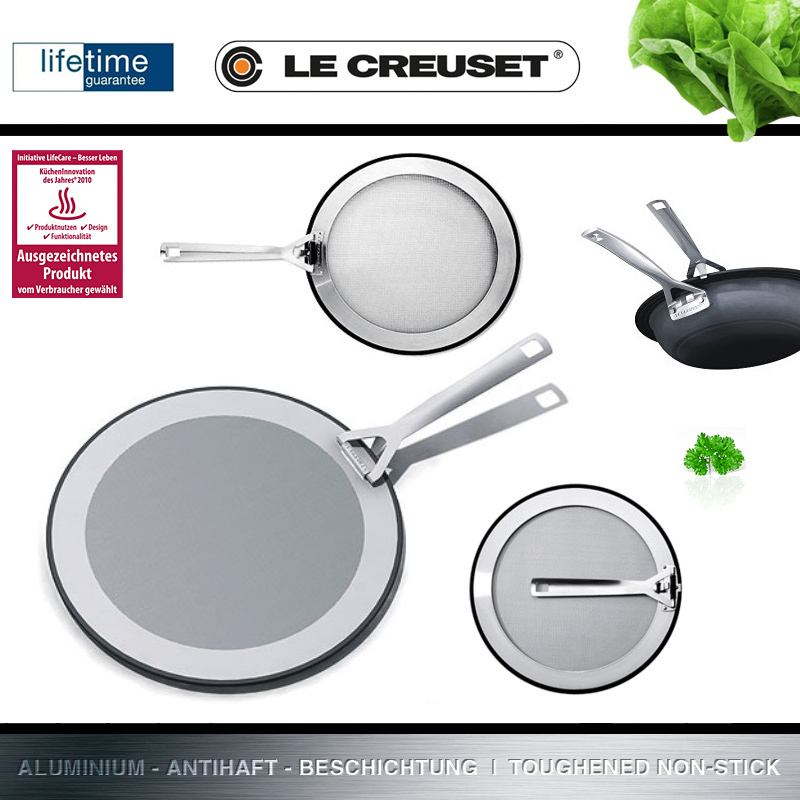 Le Creuset Splatter Guard In 2 Sizes Cookfunky We