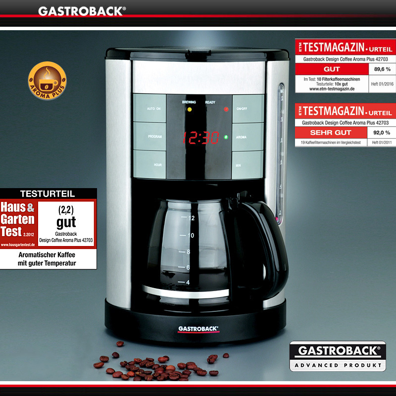 B Gastroback  Design Coffee Aroma Plus Kaffeemaschine