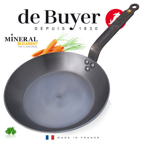 de Buyer - runde Eisenpfanne - Mineral B Element
