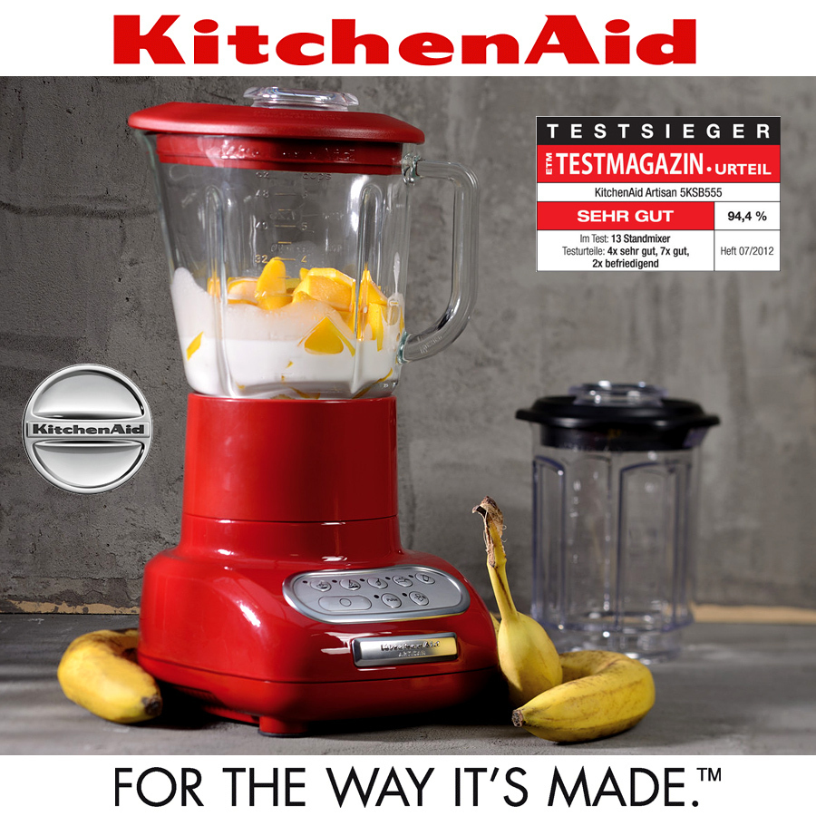 ... KitchenAid   Artisan Blender Blade + Glass Receptacle
