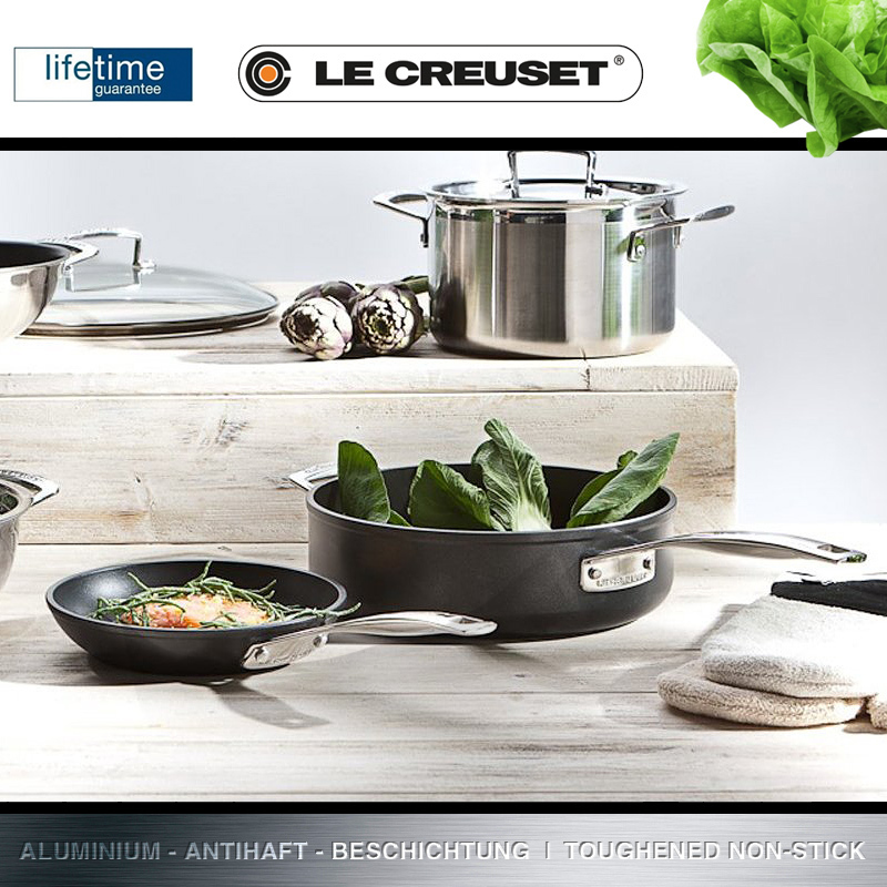 le creuset alu saut pfanne 26 cm culinaris. Black Bedroom Furniture Sets. Home Design Ideas