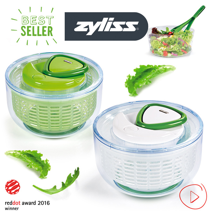 Zyliss Salad Spinner Easy Spin Cookfunky