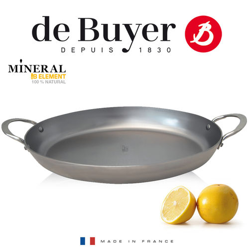 de Buyer - ovale Eisenpfanne 36 cm - Mineral B Element