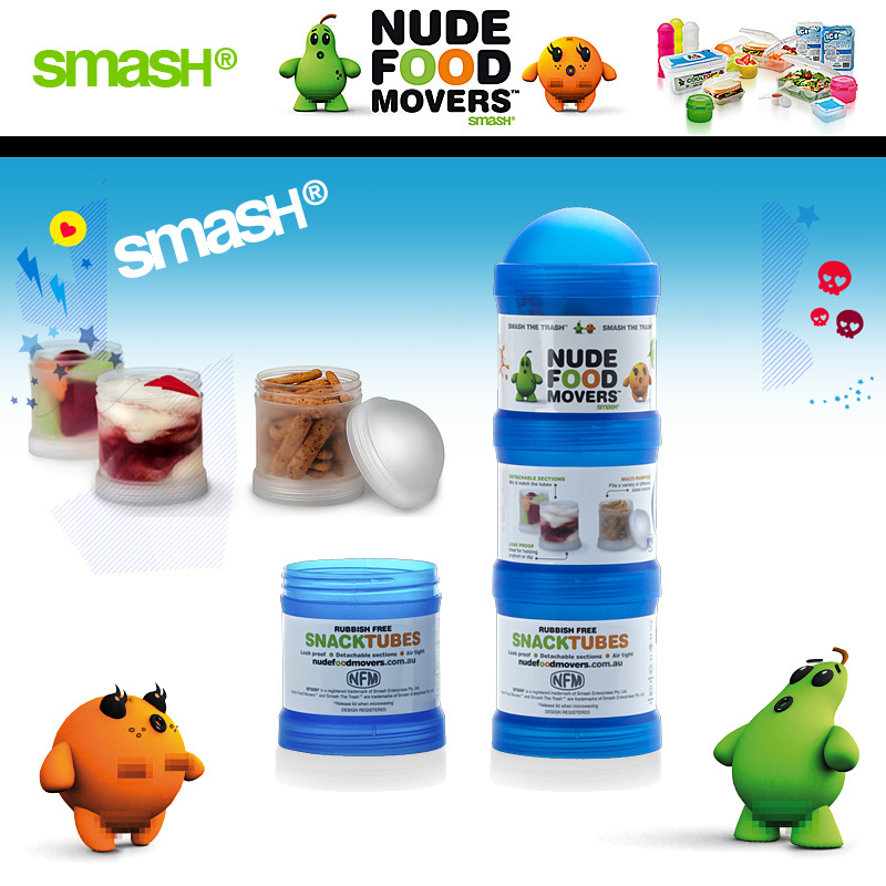 Smash - Nude Food Movers - Snack Tubes Triple