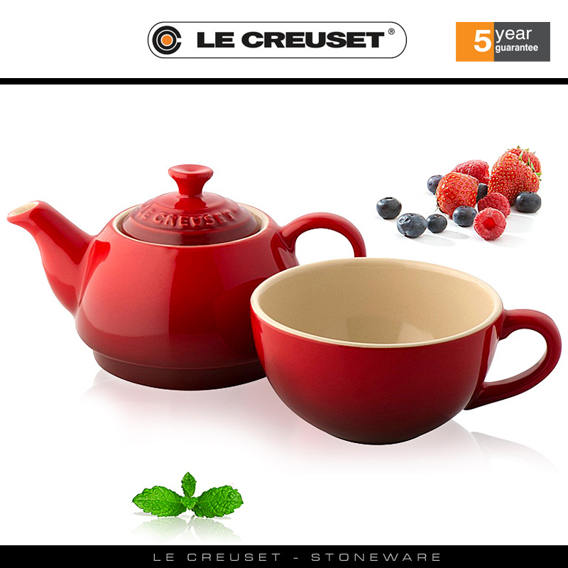 le creuset tea for one set cookfunky. Black Bedroom Furniture Sets. Home Design Ideas