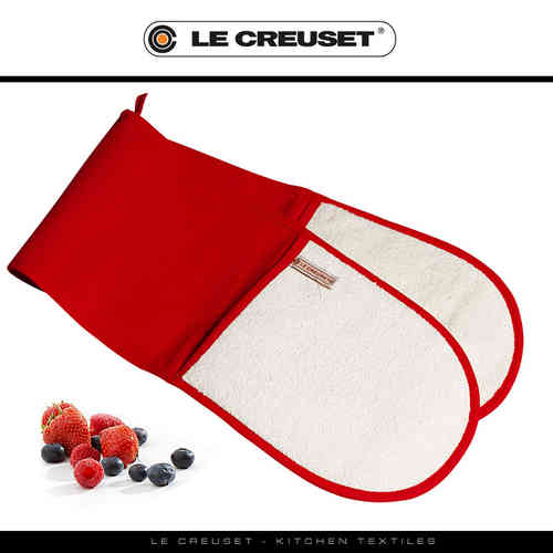 Le Creuset - Double Oven Glove - Red