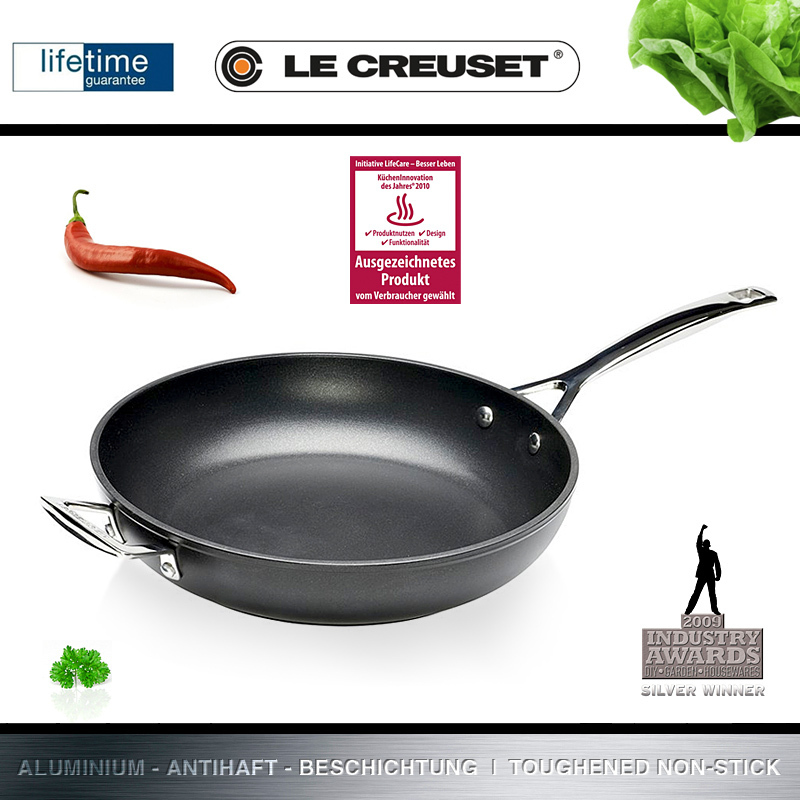 le creuset aluminium pfanne hoch 28 cm culinaris. Black Bedroom Furniture Sets. Home Design Ideas