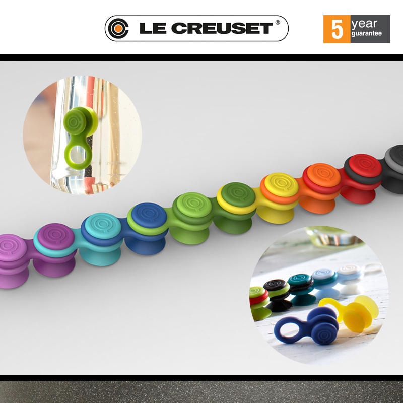 Le creuset screwpull 24 glass markers set cookfunky