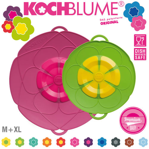 Kochblume -  Set of Spill Stopper M 25,5 cm & XL 33 cm