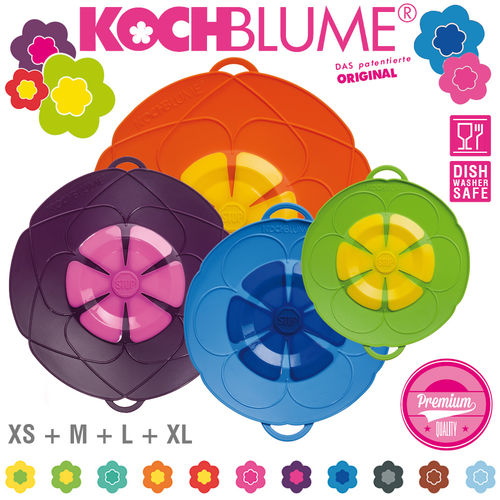 Kochblume - Set of 4 Spill Stopper - XS + M + L + XL