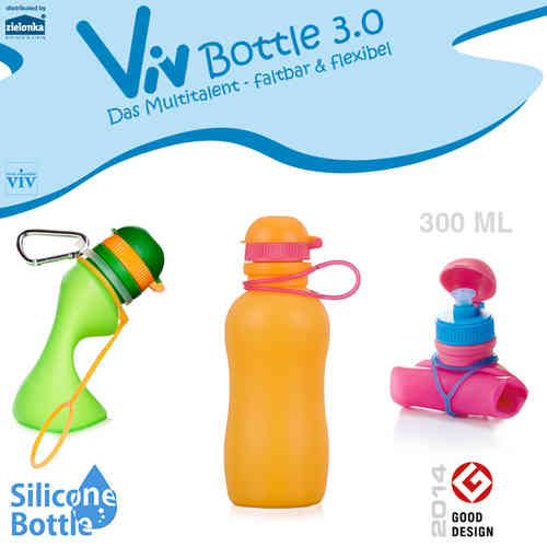 Viv Bottle 3.0 - Faltbare Trinkflasche - Orange 300 ml