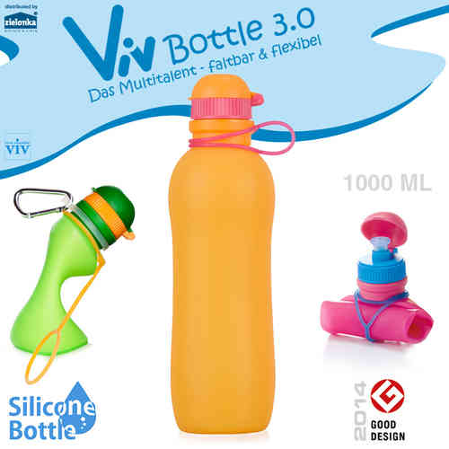 Viv Bottle 3.0 - Faltbare Trinkflasche - Orange 1000 ml