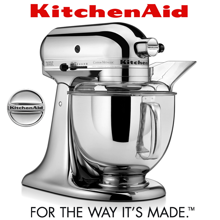 kitchenaid artisan k chenmaschine 5ksm175ps chrome ka. Black Bedroom Furniture Sets. Home Design Ideas