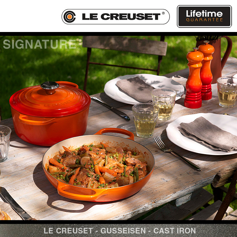 le creuset signature gourmet profitopf 30 cm palm lc. Black Bedroom Furniture Sets. Home Design Ideas