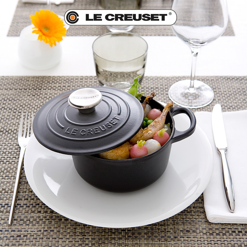 le creuset signature round casserole 14 cm black. Black Bedroom Furniture Sets. Home Design Ideas