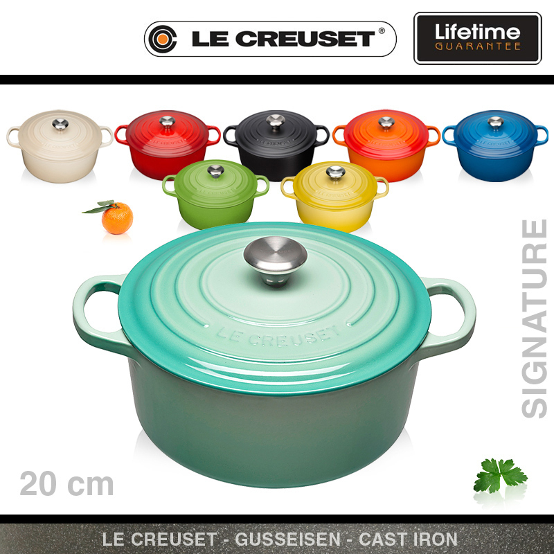 le creuset signature br ter rund 20 cm culinaris. Black Bedroom Furniture Sets. Home Design Ideas