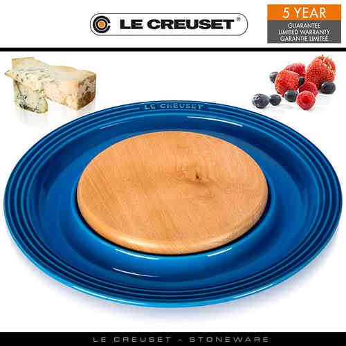 Le Creuset - Round Platter with Cutting Board