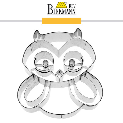 RBV Birkmann - Cookie cutter Hugo the owl 7 cm