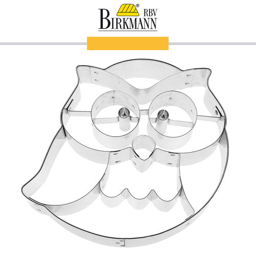RBV Birkmann - Cookie cutter Frido the owl 9 cm
