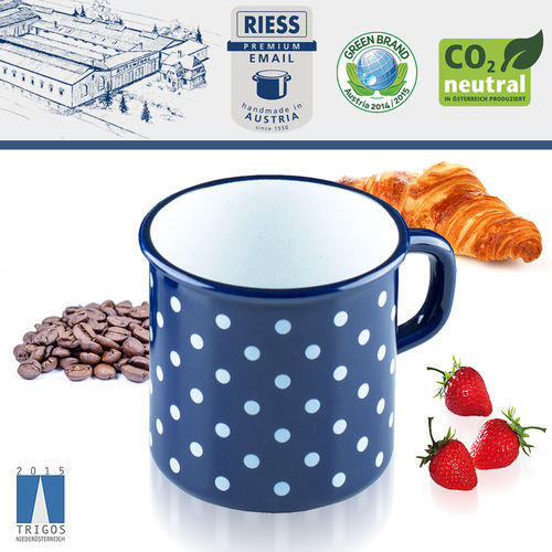 Riess - Emaille - Becher (Mug) - 380 ML