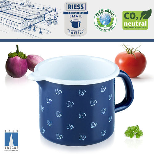 Riess - Emaille - Schnabeltopf - 9 cm - 0,5 L