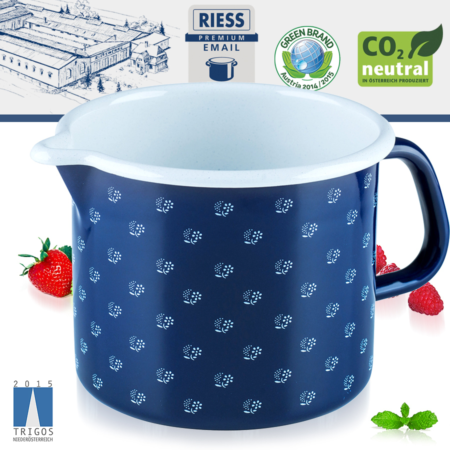 Riess - Emaille - Schnabeltopf - 14 cm - 1,7 L