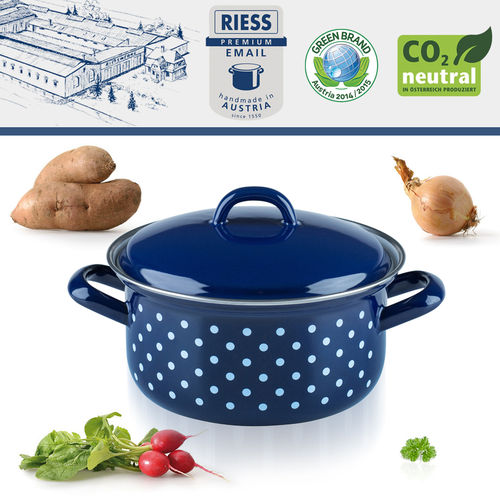 Riess - Porcelain Enamel - Covered Casserole - 16 cm - 1,0 L