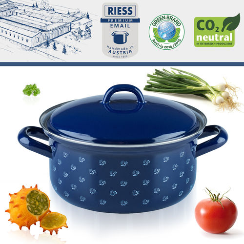 Riess - Porcelain Enamel - Covered Casserole - 18 cm - 1,5 L