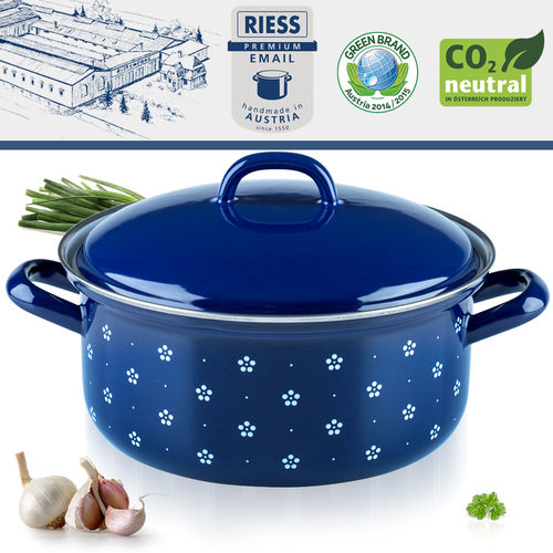 Riess - Porcelain Enamel - Covered Casserole - 20 cm - 2 L
