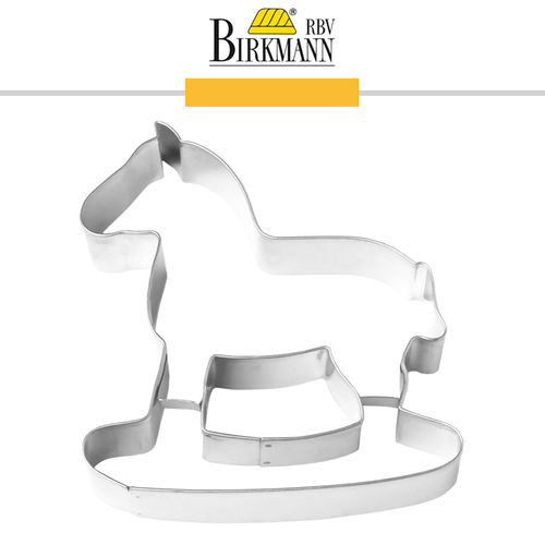 RBV Birkmann - Cookie cutter Rocking horse 14,5 cm