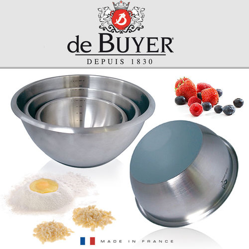 de Buyer - Stainless steel round pastry bowl
