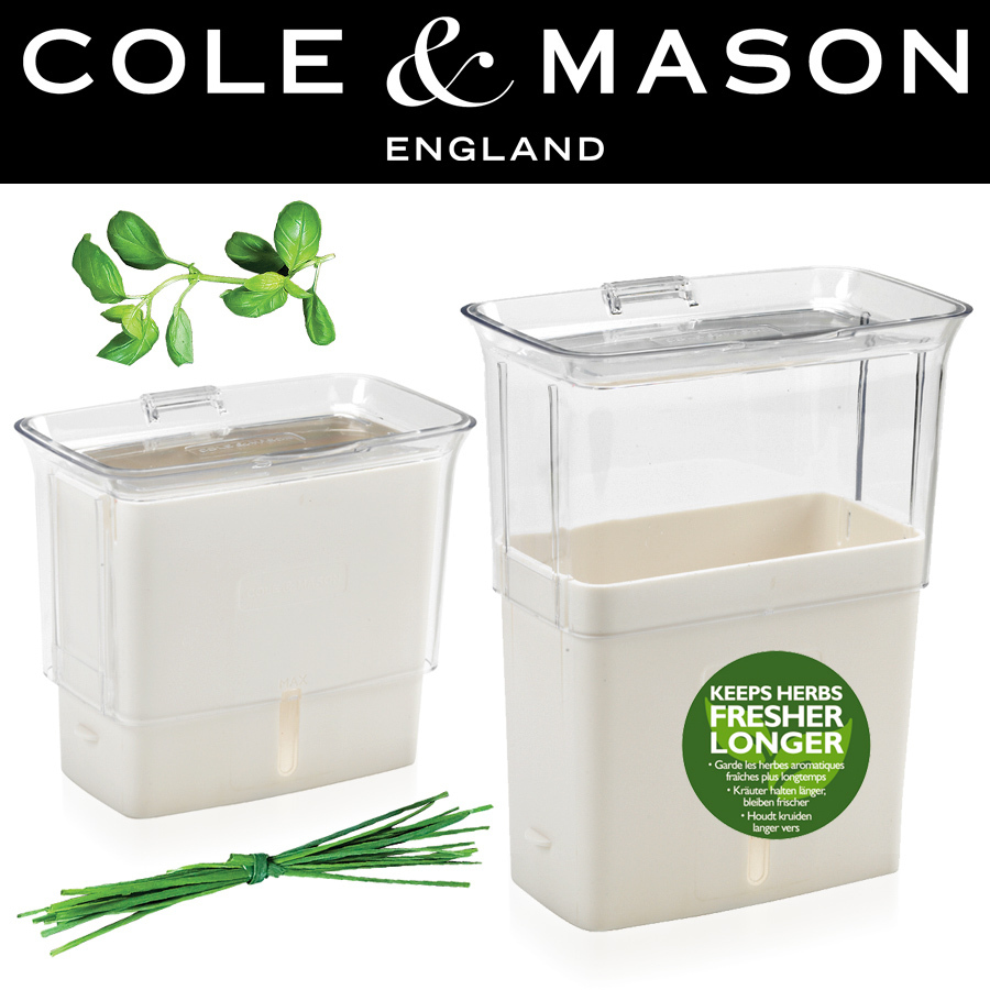 Cole mason fresh cut herb keeper cookfunky for Decor containers coles