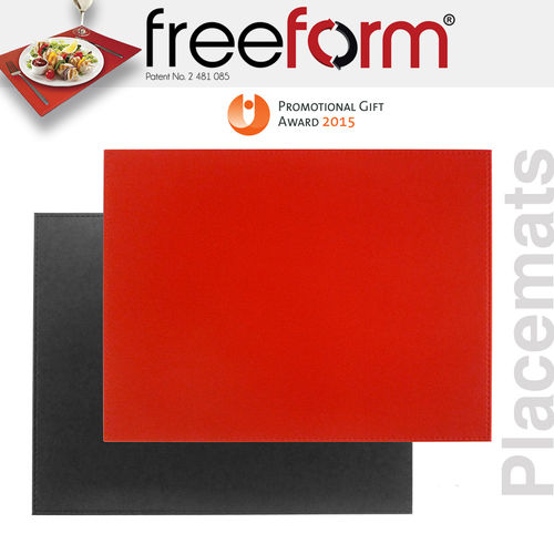 Freeform - Placemat - Black & Red - 40 x 30 cm