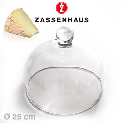 Zassenhaus - Glass Dome for Cheese dome Ø 25 cm