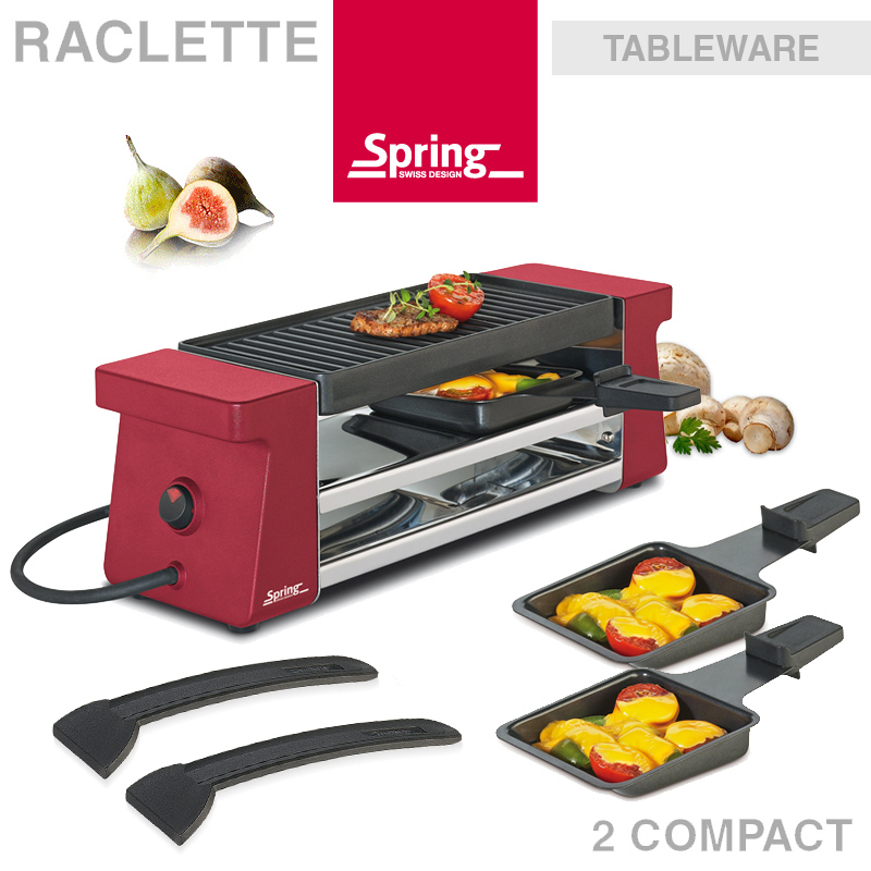 sale spring raclette 2 compact rot ebay. Black Bedroom Furniture Sets. Home Design Ideas