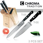CHROMA Tradition - Knife block with 2 kitchen knives