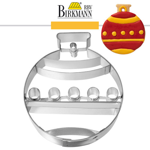 RBV Birkmann - Christbaumkugel with inner impression 10,4 cm