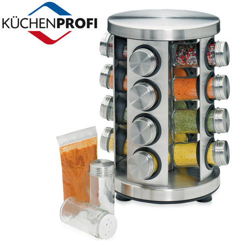 Küchenprofi - Spice rack with 16 glasses