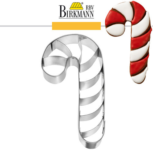 RBV Birkmann - Candy Cane with inside embossed 7 cm