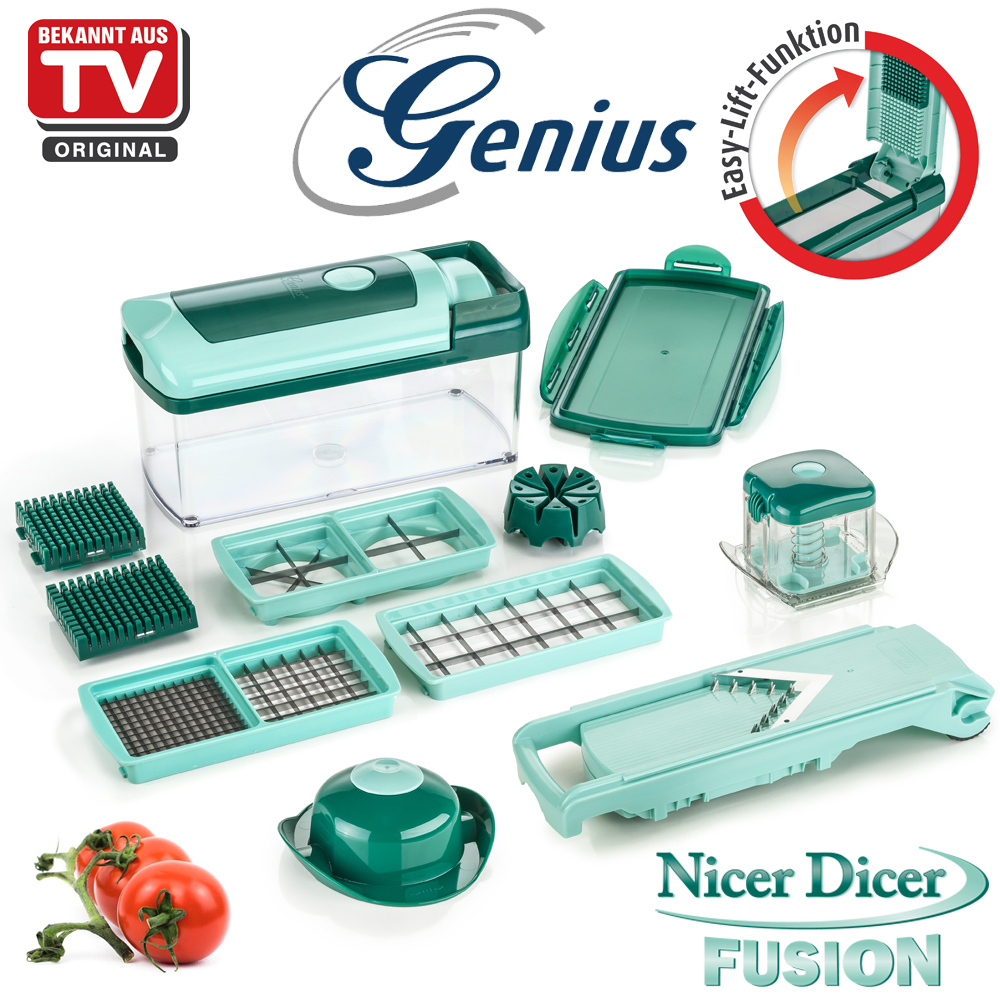 genius nicer dicer fusion set 13tlg culinaris. Black Bedroom Furniture Sets. Home Design Ideas