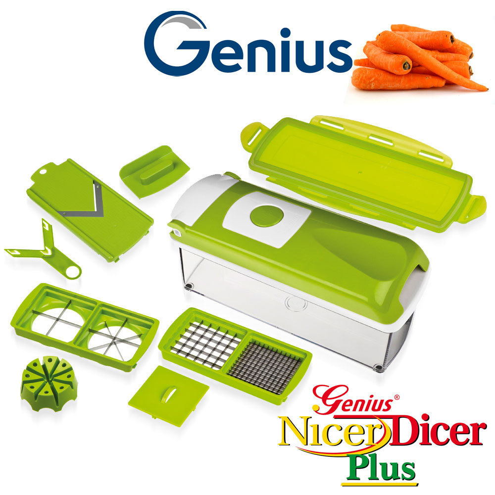 genius nicer dicer plus set 10tlg kiwi culinaris. Black Bedroom Furniture Sets. Home Design Ideas