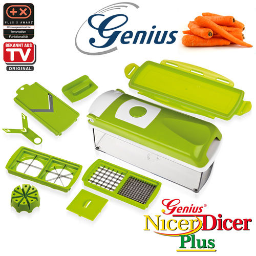 Genius - Nicer Dicer Plus Set 10tlg kiwi