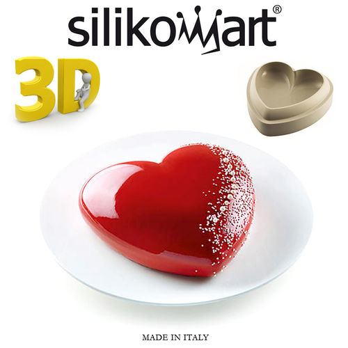Silikomart - 3d mould Batticuore