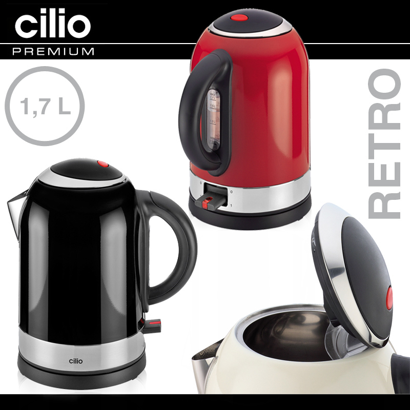 Cilio wasserkocher retro culinaris for Wasserkocher retro design