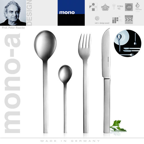 mono-a - Cutlery set, 24 pcs. - with long blade