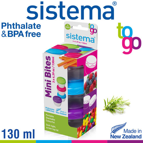sistema - Mini Bites To Go Set of 3