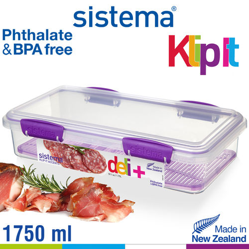 sistema - Klip It Frischhaltedose Split - 1750 ml